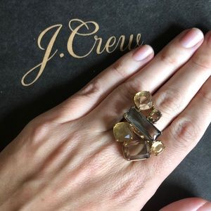 J.Crew Mosaic Crystal Statement Ring